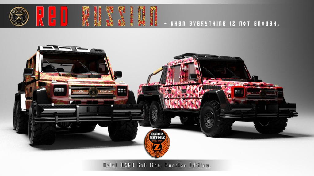 Mercedes-Benz G63 AMG 6x6 Turned Into The Red Russian By Dartz Motorz
