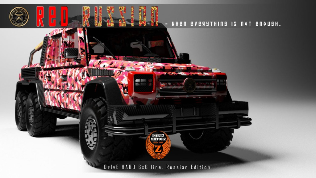 Mercedes-Benz G63 AMG 6x6 Turned Into The Red Russian By ...