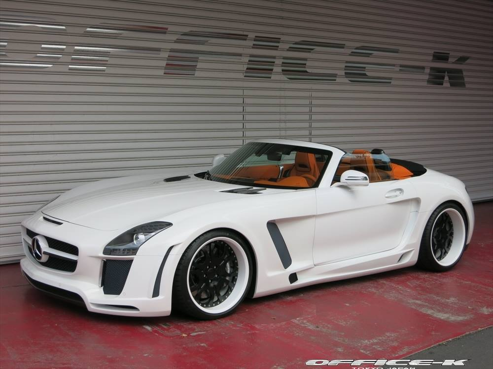 Mercedes benz sls amg given the jetstream body kit from for Mercedes benz exterior car care kit