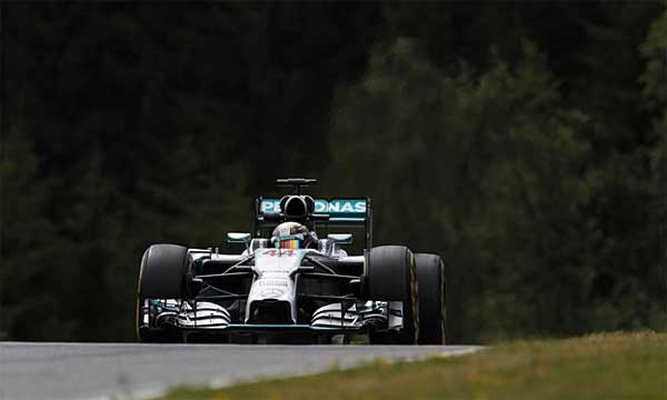 Mercedes AMG Petronas qualifying at 2014 Austrian Grand Prix Mercedes slips in qualifying for 2014 Austrian GP