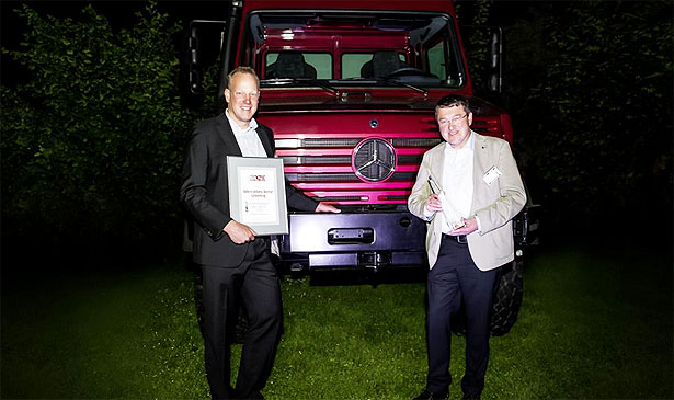 Mercedes Benz Unimog wins Off Road award Mercedes Benz Unimog awarded Cross country Vehicle of the Year 2014 by Off Road