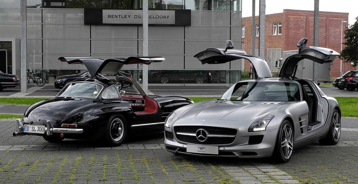 mercedes 300 sl and sls