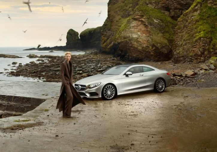 tilda swinton in new mercedes benz ad 724x506 Tilda Swinton Stars in New Mercedes Benz Ad