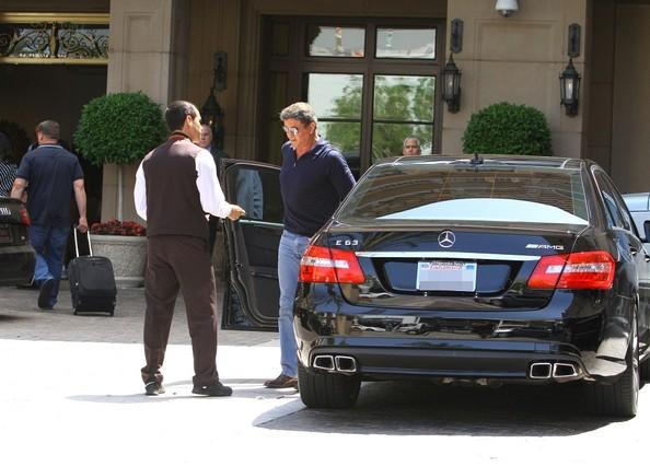Sylvester Stallone And His Mercedes Benz E63 Amg