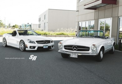 Mercedes-Benz 230SL Side-By-Side With Mercedes-Benz SL63 AMG