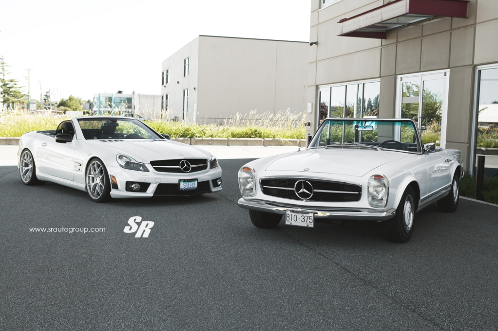 115 Mercedes Benz 230SL Side By Side With Mercedes Benz SL63 AMG