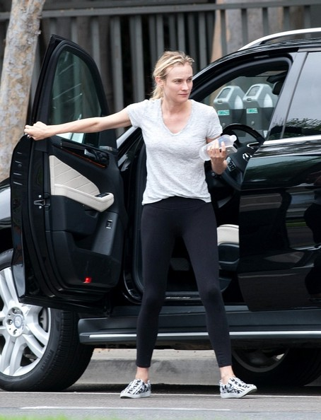 Diane Kruger Seen Driving A Mercedes-Benz ML Class