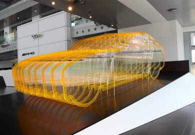 Teaser Model Of Mercedes-Benz AMG GT Displayed In Affalterbach