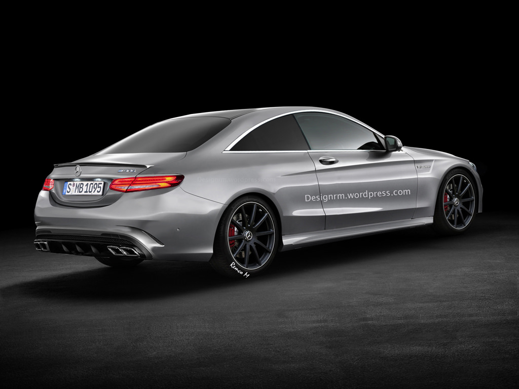Rendering of upcoming mercedes benz c63 amg coupe unveiled for Mercedes benz eq release date