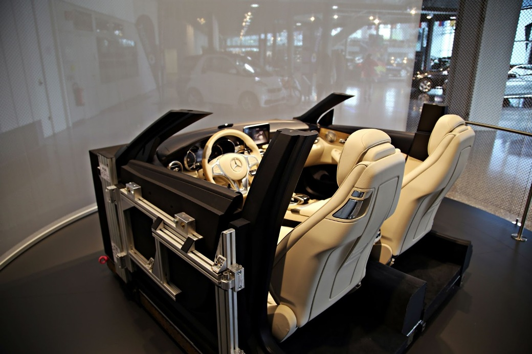 mercedes benz museum features interior cabin of 2015 mercedes benz c class cabriolet