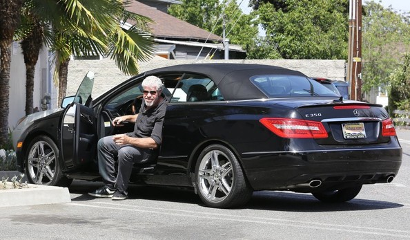 Ron Perlman Seen Driving A Mercedes-Benz E350 Cabrio