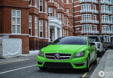 Mercedes-Benz CLS63 AMG In Matte Green Seen In London