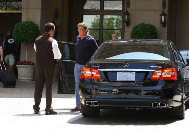 Sylvester Stallone And His Mercedes-Benz E63 AMG