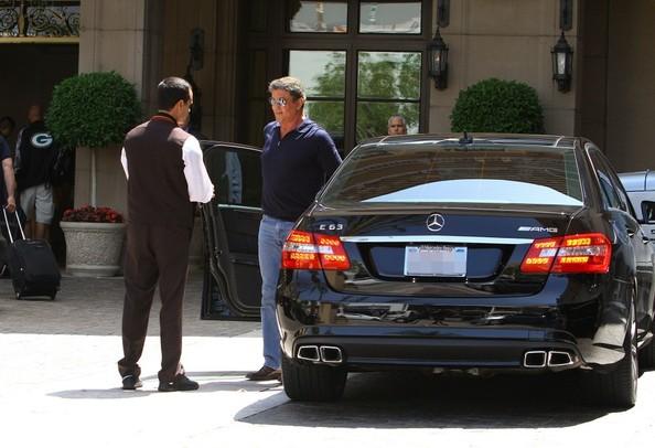 Sylvester Stallone And His Mercedes-Benz E63 AMG