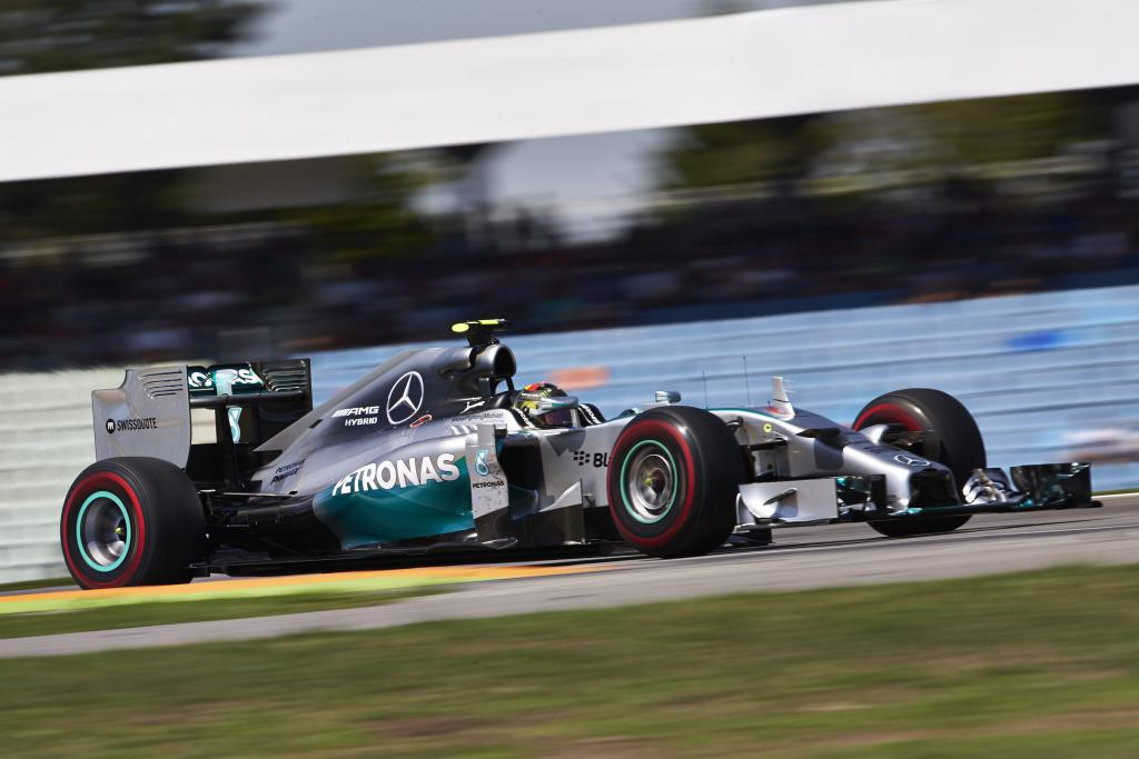 Mercedes AMG Petronas driver Nico Rosberg scores pole in 2014 German Grand Prix
