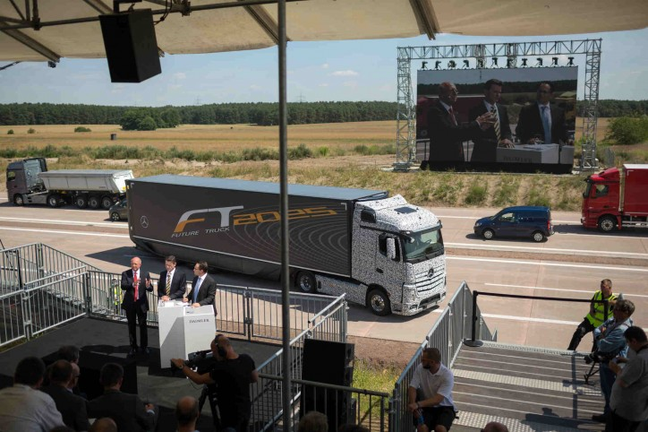 self-driving truck of Daimler 2
