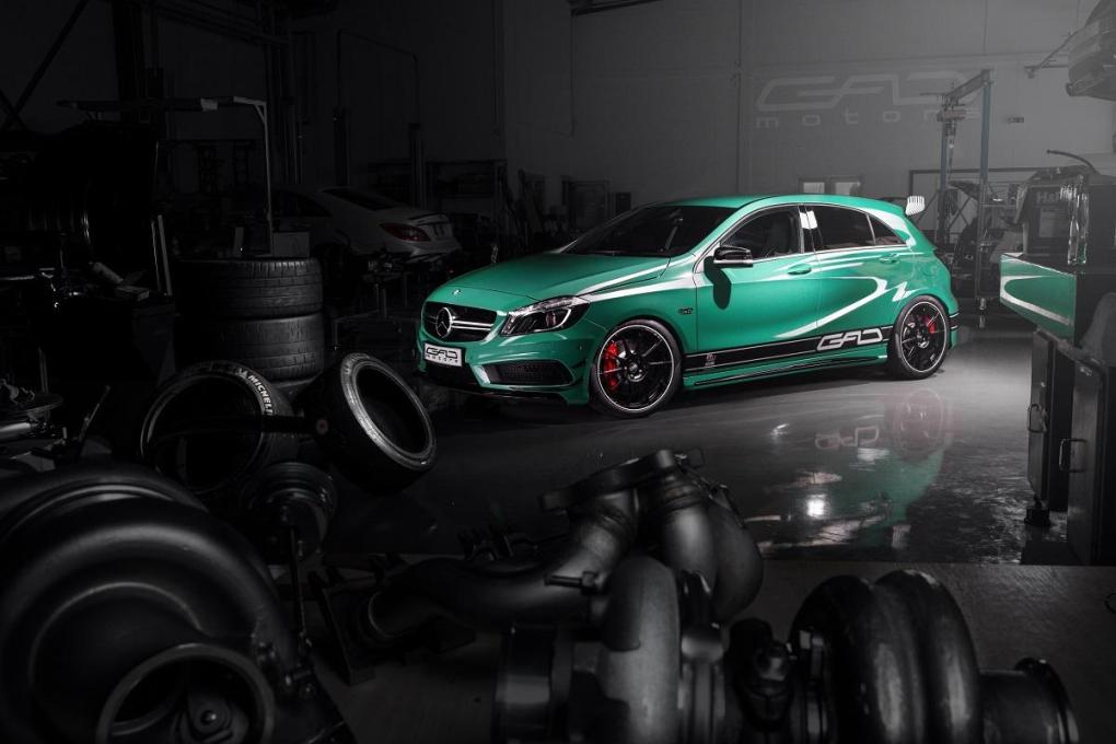 Mercedes-Benz A45 AMG Power Output Enhanced by GAD Motors