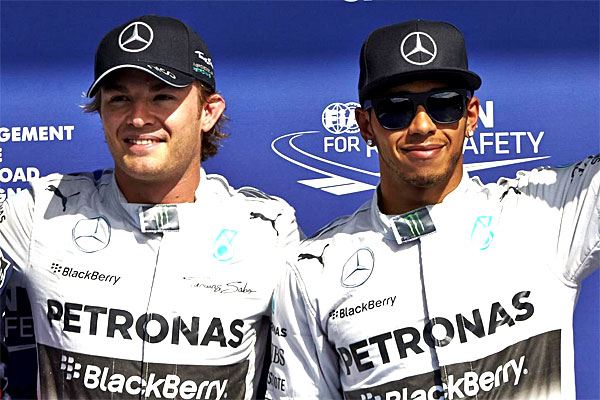 Mercedes rosberg fined and punished for belgian gp for Mercedes benz f1 drivers