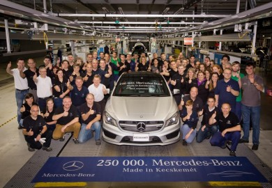 250,000th Mercedes-Benz Rolls off the Line at the Kecskemét Plant