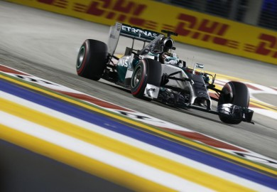 Mercedes driver Lewis Hamilton wins 2014 Singapore Grand Prix