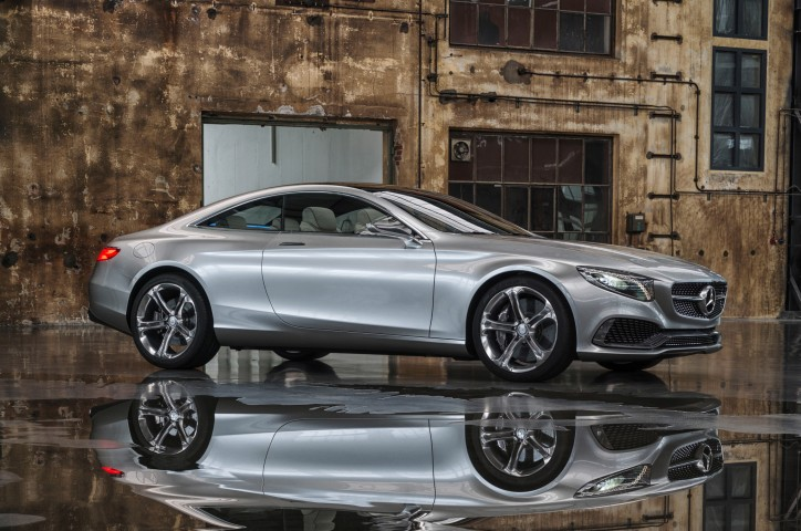 Mercedes Benz S Class Coupe Concept Front Three