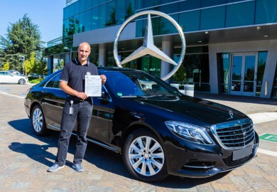 Dr Axel Gern and the Mercedes-Benz autonomous driving vehicle
