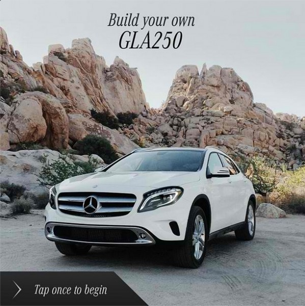 Mercedes benz usa creates interactive tool for customizing the gla mercedes benz usa gla app altavistaventures Image collections