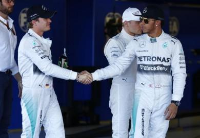 Mercedes Lewis Hamilton Nico Rosberg 2014 Russian Grand Prix Sochi