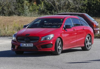 Mercedes-Benz CLA Shooting Brake Test Mule Spotted