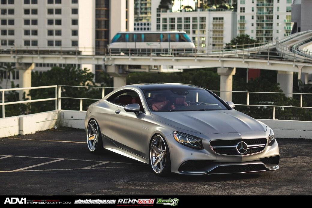 Adv 1 Wheels Enhances Matte Grey Mercedes Benz S63 Amg
