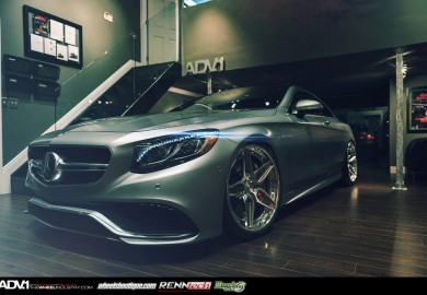 ADV.1 Wheels Enhances Matte Grey Mercedes-Benz S63 AMG Coupe