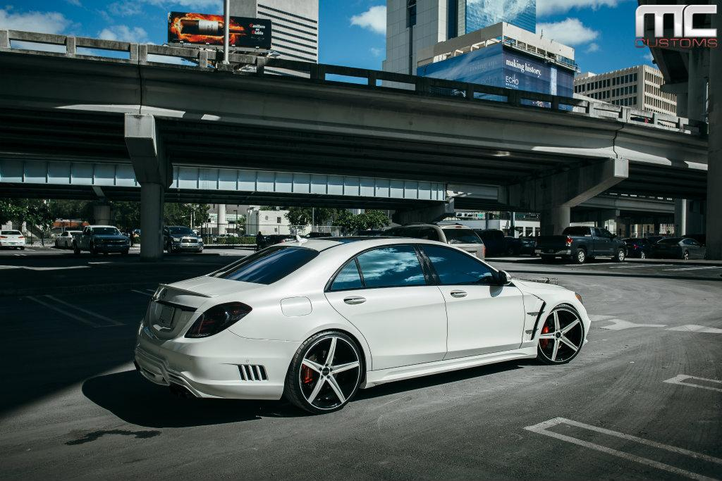 Mc customs modifies a mercedes benz s550 for How much is a 2014 mercedes benz s550