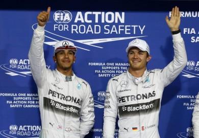 Mercedes F1 Abu Dhabi Grand Prix qualifying Rosberg Hamilton
