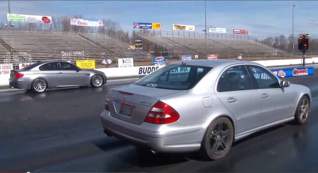 2006 Mercedes E55 Amg Vs E92 Bmw M3 In A Quarter Mile Drag