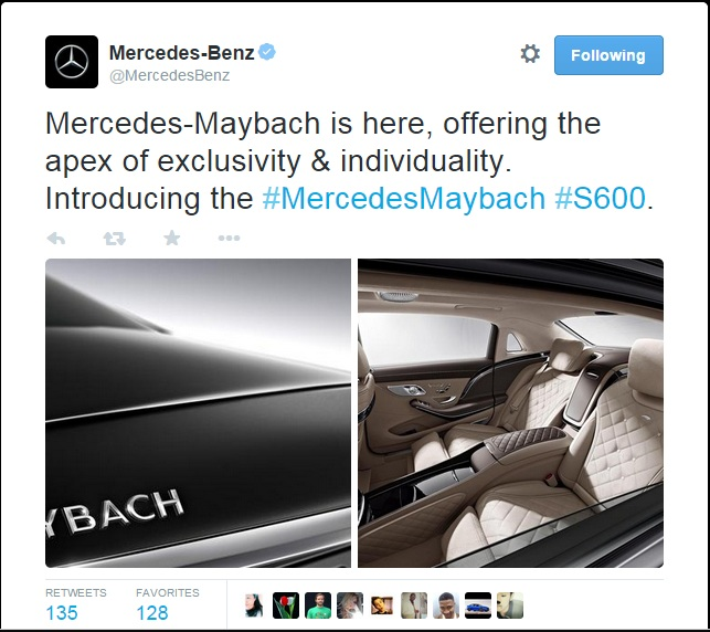 Official teaser photos of the mercedes maybach s600 for Mercedes benz twitter