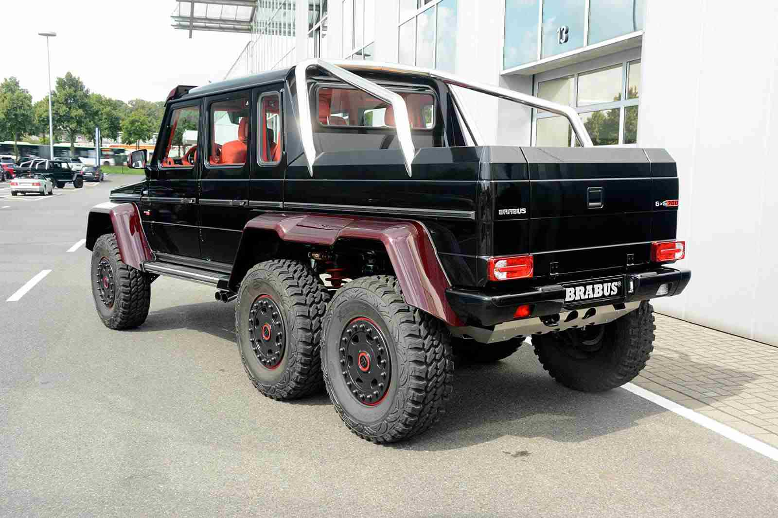 Mercedes G63 Amg 6x6 Gets Red Carbon Treatment From Brabus