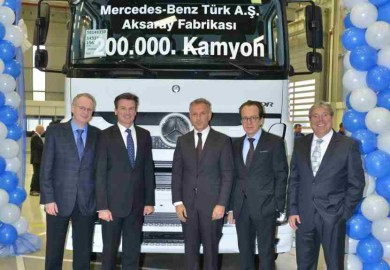 Mercedes-Benz Trucks Aksaray plant reaches 200000 units milestone