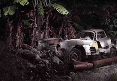mercedes-benz 300sl gullwing wreck
