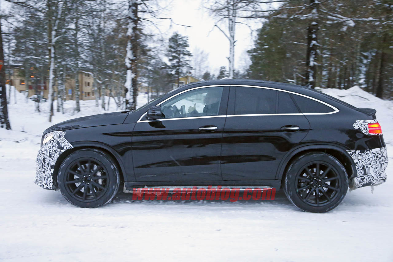 almost undisguised mercedes amg gle coupe caught on cam a mercedes benz fan blog. Black Bedroom Furniture Sets. Home Design Ideas