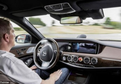 mercedes self driving cars