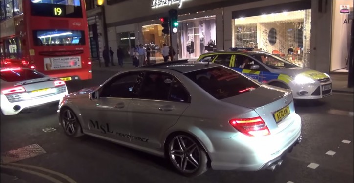 Weistec Mercedes C63 AMG Sets Off Car and Store Alarms