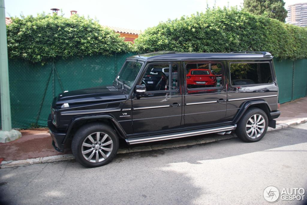 art tuned mercedes benz g55 amg seen in france