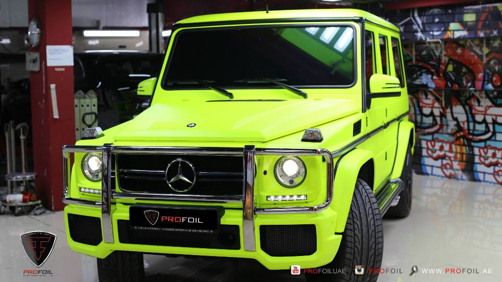 ProFoil Gives Mercedes-Benz G63 AMG A Neon Yellow Color Wrap