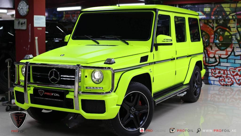 Profoil Gives Mercedes Benz G63 Amg A Neon Yellow Colored
