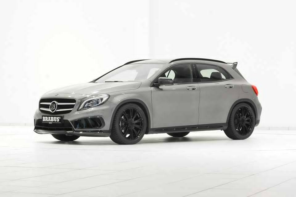 brabus mercedes gla amg fitted with stealth black wheels. Black Bedroom Furniture Sets. Home Design Ideas