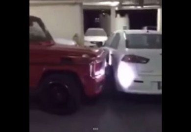 Mitsubishi Lancer Pushed Aside By Mercedes-Benz G63 AMG