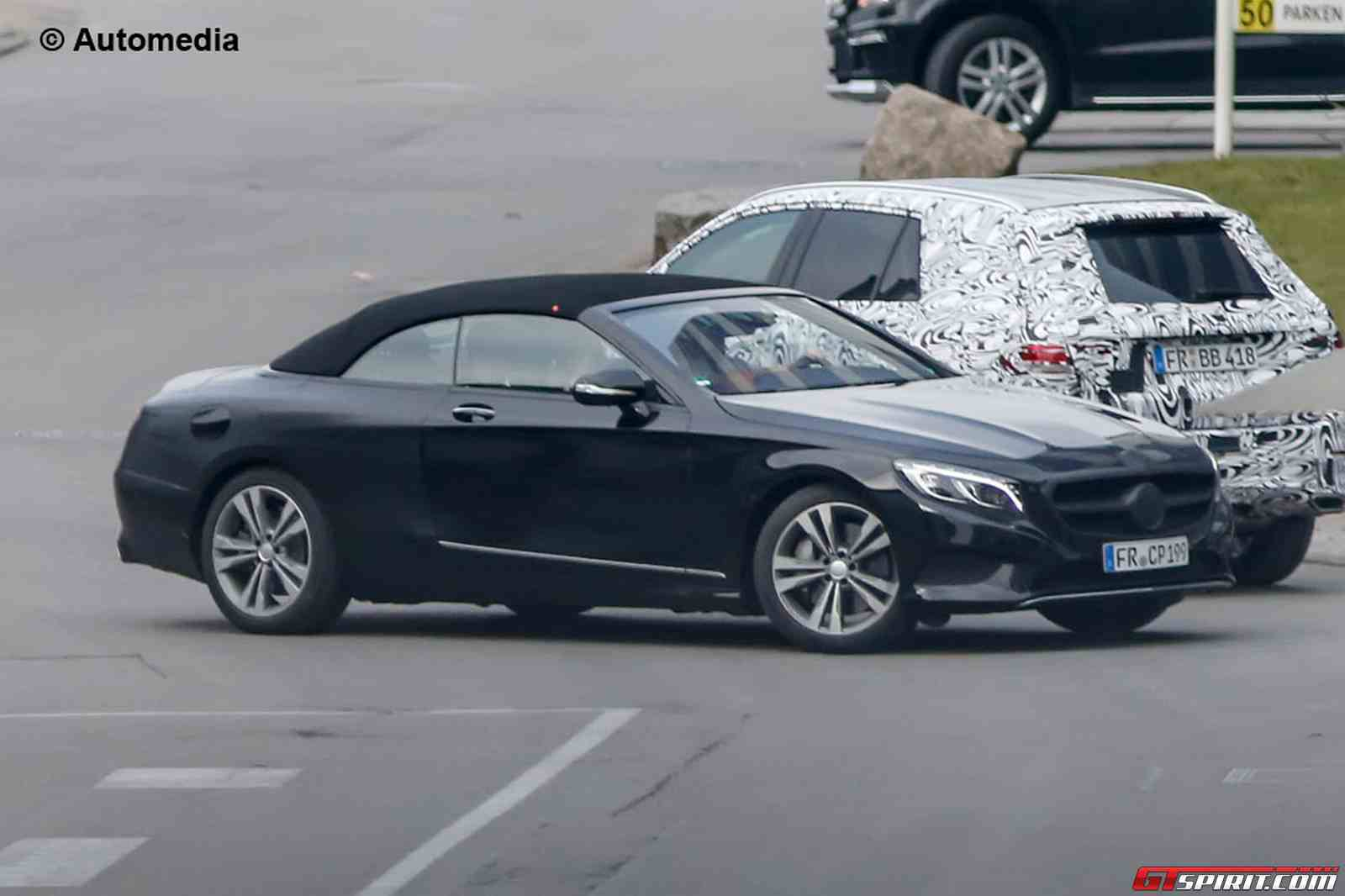 mercedes benz s class convertible spied with less camo. Black Bedroom Furniture Sets. Home Design Ideas