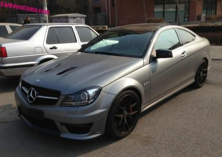 Photos Of Mercedes C63 Amg Coupe In Matte Gray Plus Police