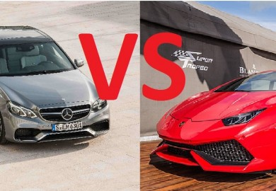 mercedes e63 amg vs huracan