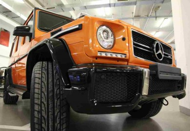mercedes g63 amg crazy color sunset beam (7)
